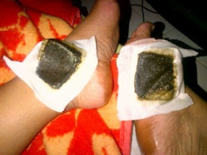 gold bamboo foot patch